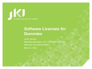 CLA Summit 2013: Software Licenses for Dummies