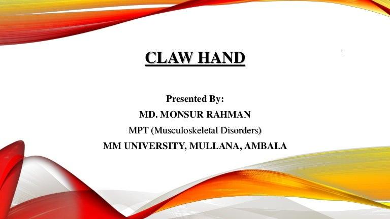 Claw Handcausestypessymptomsmanagement