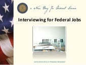 Interviewing with the Federal Government