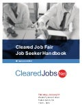 Cleared Job Fair Job Seeker Handbook January 31, 2019, Tysons Corner, VA