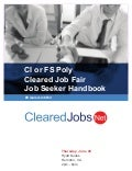 Cleared Job Fair Job Seeker Handbook June 20, 2019 Dulles, VA