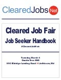 Cleared Job Fair Job Seeker Handbook March 4, 2014, BWI, Md