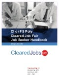 Poly-Only Cleared Job Fair Job Seeker Handbook May 21, 2019, BWI, MD