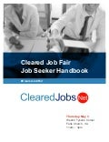 Cleared Job Fair Job Seeker Handbook May 3, 2018, Tysons Corner, VA