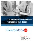 Poly-Only Cleared Job Fair Job Seeker Handbook May 5, 2016, Herndon, Virginia