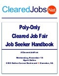 Poly Only Cleared Job Fair Job Seeker Handbook November 18, 2015, Dulles, Va
