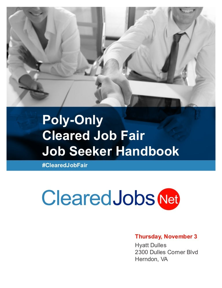 Cleared job fair job seeker handbook november 3 2016 dulles virgin malvernweather Choice Image