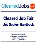 Cleared Job Fair Job Seeker Handbook Oct 27, 2011, BWI, MD
