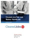 Cleared Job Fair Job Seeker Handbook October 4, 2018, Tysons Corner, VA