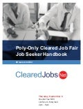 Cleared Job Fair Job Seeker Handbook Sept 6, 2018, Linthicum, MD