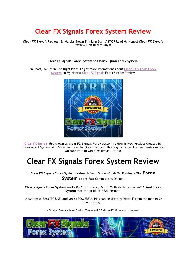 Clear fx signals forex system review