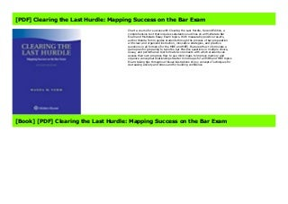 [PDF] Clearing the Last Hurdle: Mapping Success on the Bar Exam