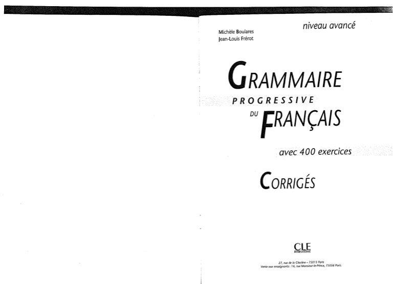 Cle international grammaire progressive du francais avec