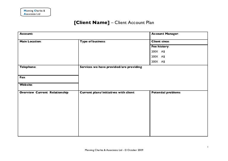 Account Plan Template. strategic account plan template download at ...