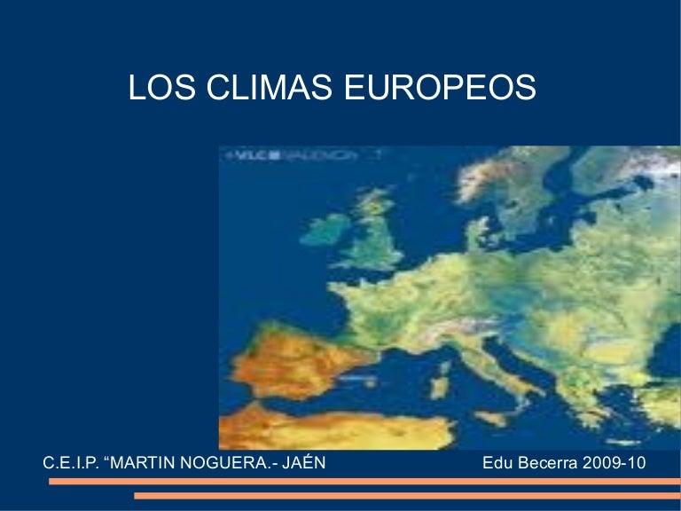 Climas de europa