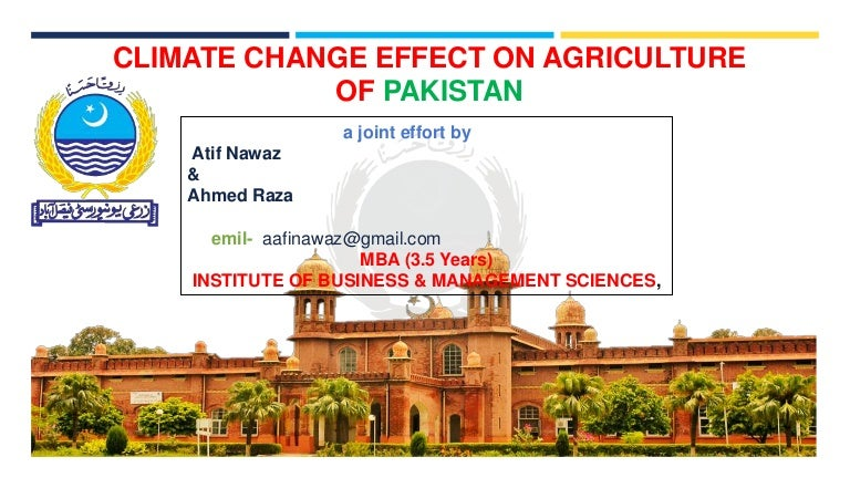 effect of climate change on agricultural activities The net effect of climate change on world agriculture is likely to be negative   adaptation strategies are short and long-term changes to human activities that.