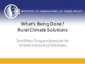 Tara Ritter - Successful Climate Policy Requires Rural Engagement