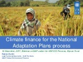 Climate Finance - National Adaptation Plans under the UNFCCC Process - Webinar