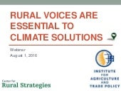 Introduction - Successful Climate Policy Requires Rural Engagement