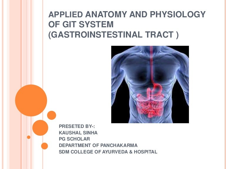 Clinical applied anatomy and physiology of git system