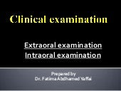 Clinical examination