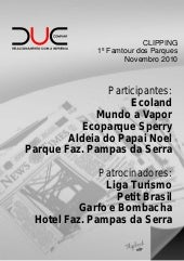 Clipping 1º Famtour dos Parques - DUE Company