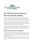 Use Three Key Lease Sections in Rent Acceleration Strategy