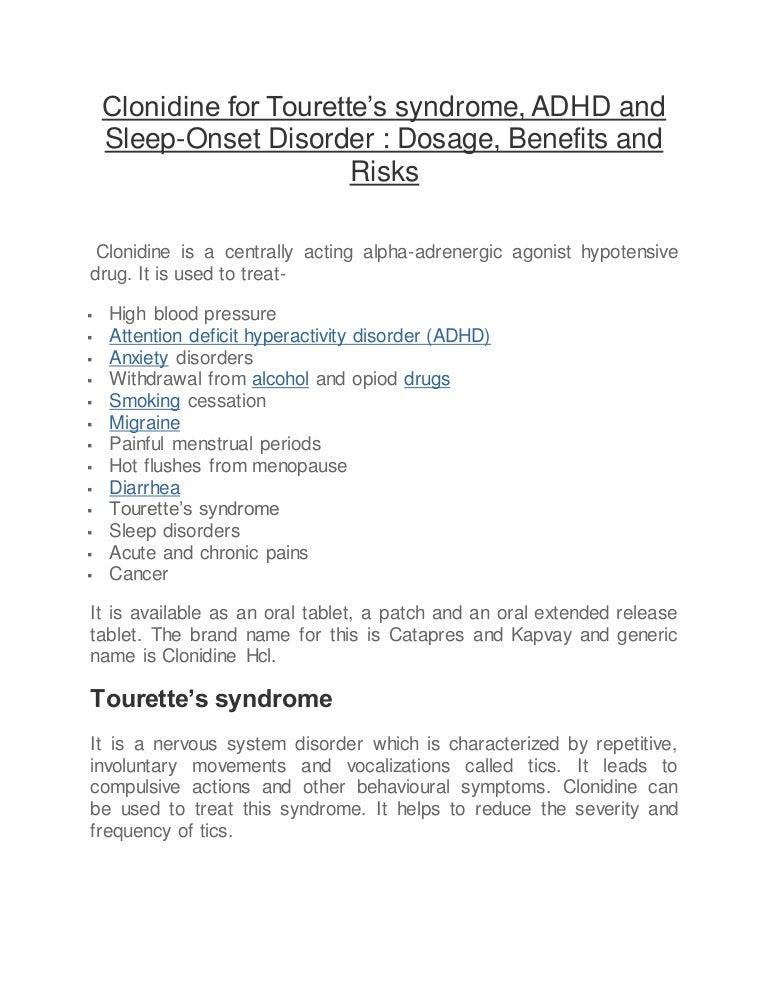 Clonidine For Tourette