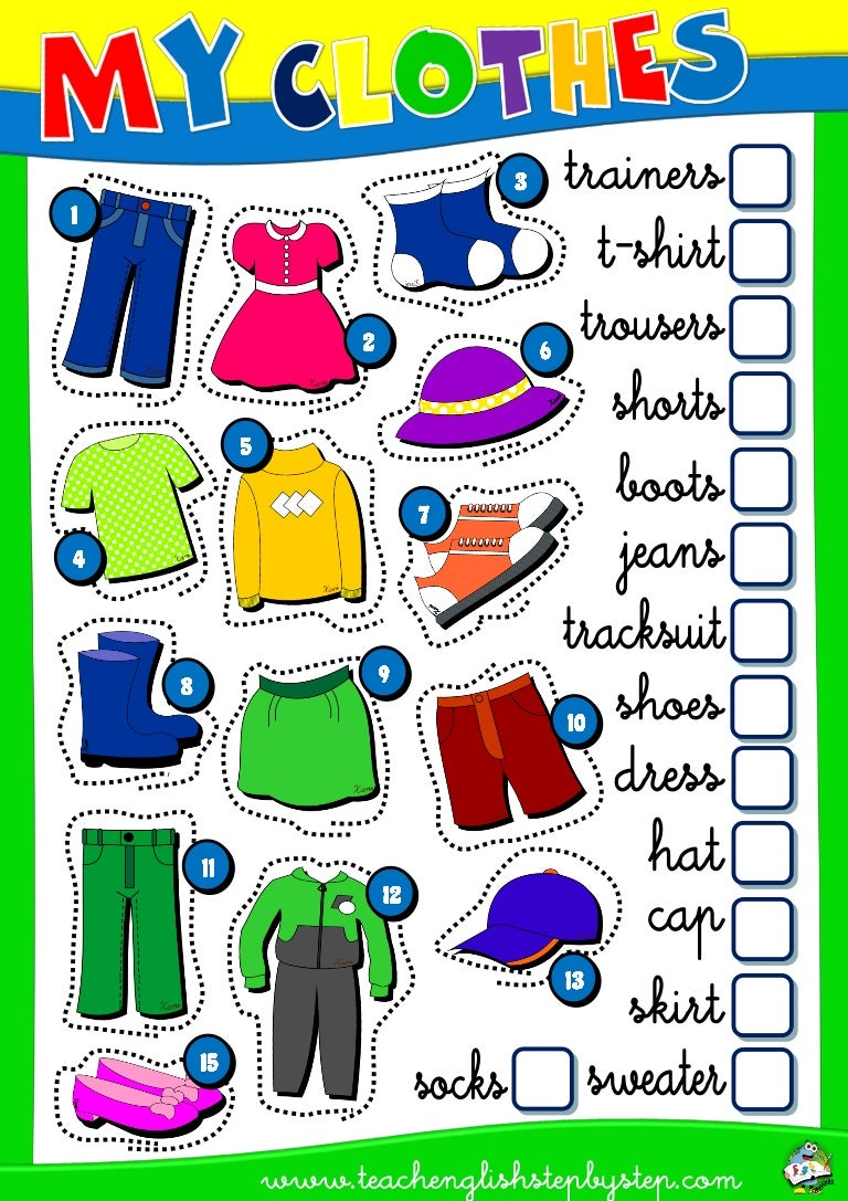 Adorable the Clothes Worksheets Pdf with Additional Esl S Esl Kids ...