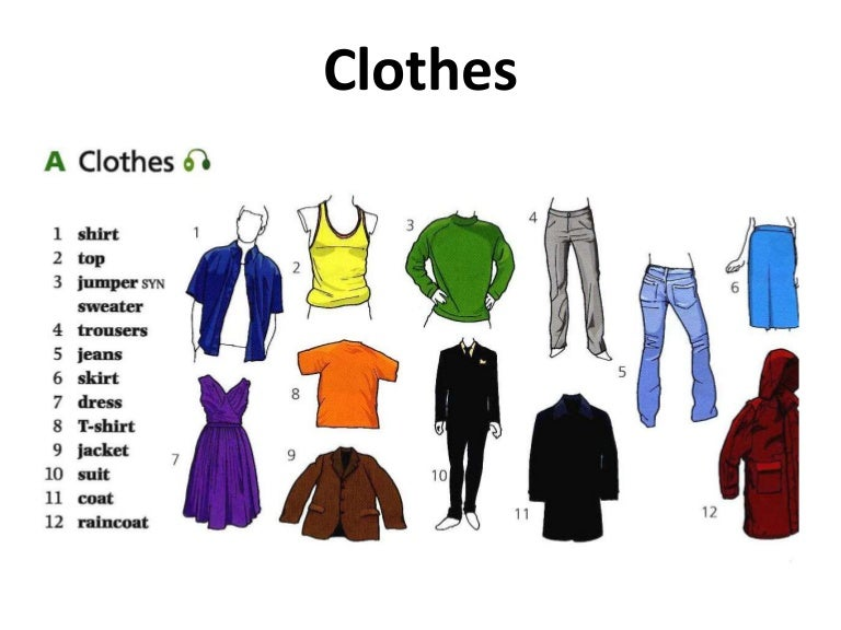 Image result for clothes vocabulary