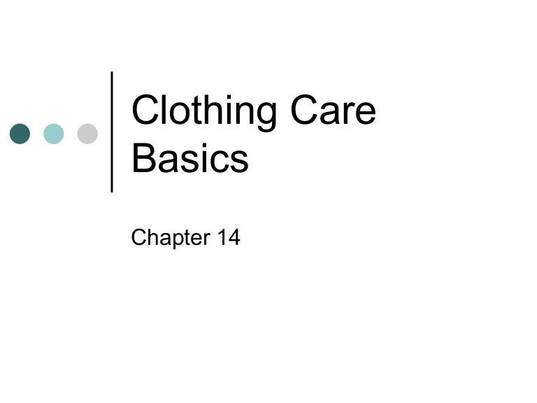 Clothing care basics