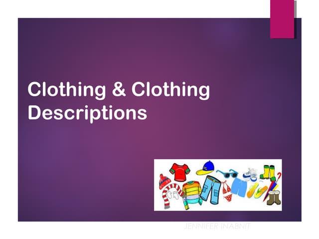 clothing descriptions jessica