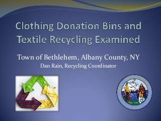Clothing Donation Bins and Textile Recycling Examined