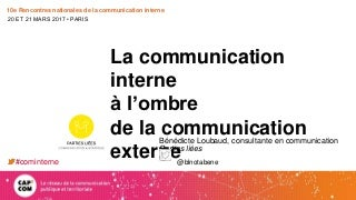 La communication interne à l'ombre de la communication externe