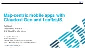 Field Work: Map-centric mobile apps with Cloudant Geo and LeafletJS