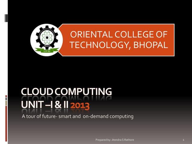 Cloud computing (IT-703) UNIT 1 & 2