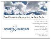 Cloud Computing Services And The Data Center