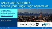 AngularJS Security: defend your Single Page Application