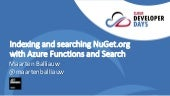 Indexing and searching NuGet.org with Azure Functions and Search - Cloud Developer Days Poland