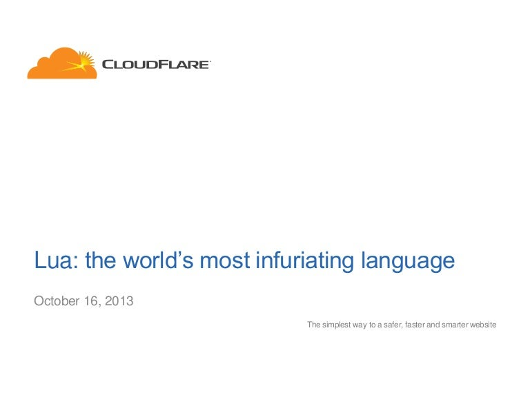 Lua: the world's most infuriating language