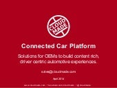 CloudMade - Connected Car - Overview