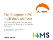 deployment, management, on-demand usage cloudSME - European Multi Cloud Platform