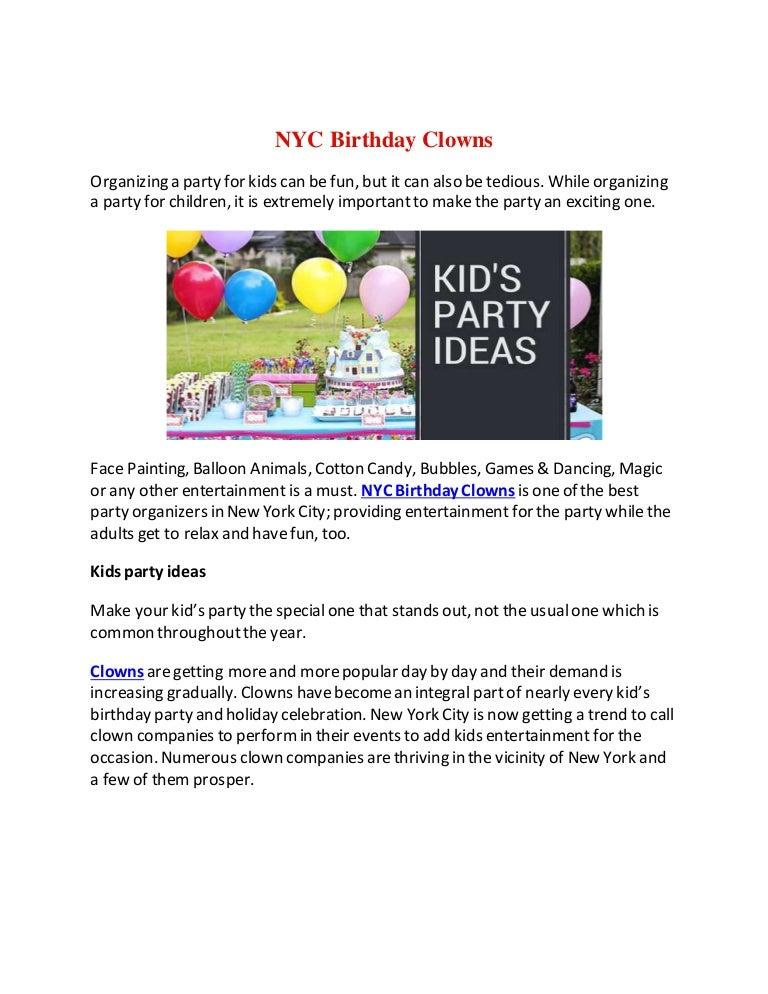 Clowns Nyc Birthday