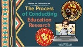 The Process of Conducting Educational Research