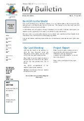 Create Your One Page Club Bulletin in an Hour