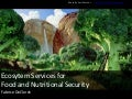 Ecosytem services for food and nutritional security