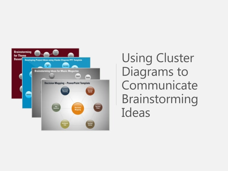 Cluster Diagram Powerpoint Presentations