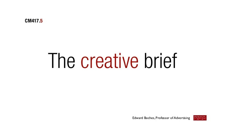 writing a creative brief advertising Learn how to write a marketing brief in ten steps  you may be wondering what the difference is between a creative brief and a  advertising campaigns.