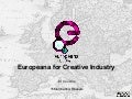 Europeana for Creative Industry