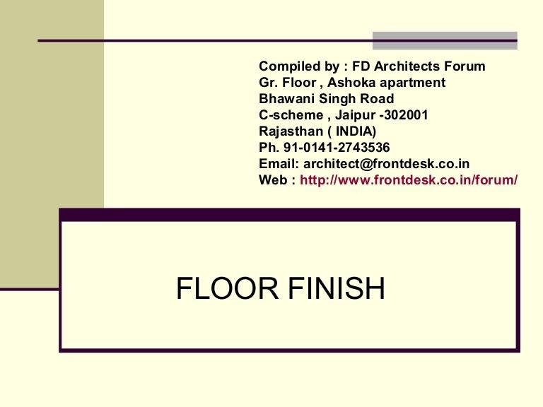Floor Finish